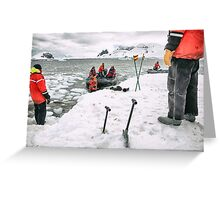 Antarctic Arrival - Antarctica Greeting Card