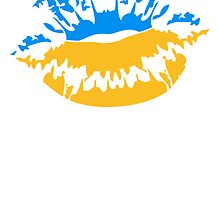 Ukraine flag fan mouth by Style-O-Mat