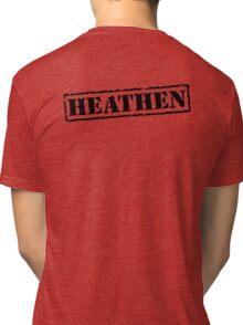 Heathen Prison Jumpsuit Stamp Tri-blend T-Shirt