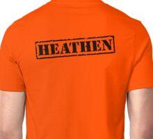 Heathen Prison Jumpsuit Stamp Unisex T-Shirt