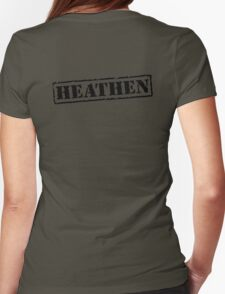 Heathen Prison Jumpsuit Stamp Womens Fitted T-Shirt