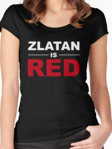 Zlatan Ibrahimovic - Manchester United Women's Fitted Scoop T-Shirt