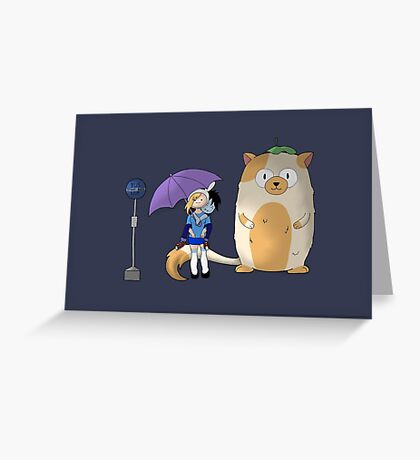 My Neighbor Cake - Fionna and Cake Greeting Card