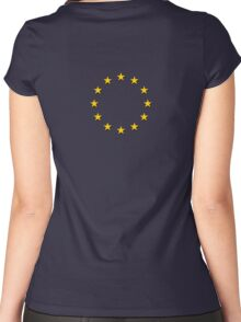 EU Flag Dress - European Union Sticker Women's Fitted Scoop T-Shirt