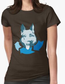 Returning Dog Cool Design Womens Fitted T-Shirt