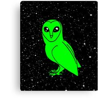 cosmic owl Canvas Print