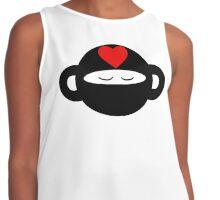 Meditating Ninja Love Monkey Contrast Tank