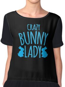 CRAZY Bunny lady Chiffon Top