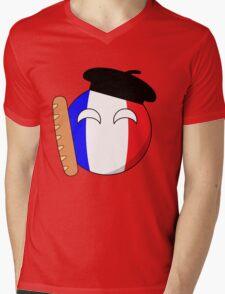 French Ball Mens V-Neck T-Shirt