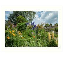Cottage garden border Art Print
