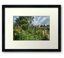 Cottage garden border Framed Print