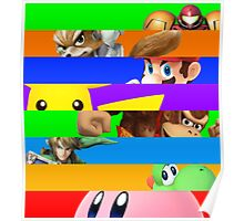 Smash for WiiU and 3DS - Old School 64  Poster