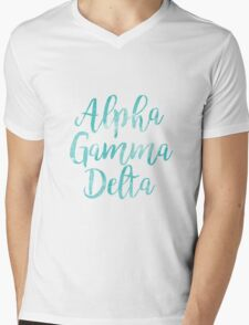 alpha gamma delta agd sorority sticker greek watercolor Mens V-Neck T-Shirt