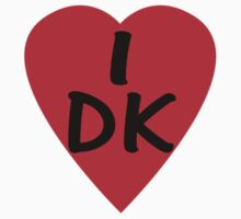 I Love Denmark Country Code DK T-Shirt & Sticker One Piece - Short Sleeve