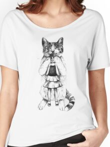 Big cat Women's Relaxed Fit T-Shirt