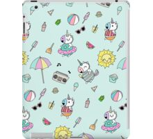 Summer Unicorn Pool Party iPad Case/Skin