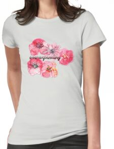 Everexpanding Flowers Womens Fitted T-Shirt