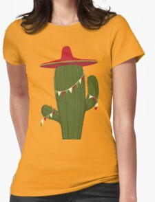 Elegant and Beautiful Cactus Desert Plant Womens Fitted T-Shirt