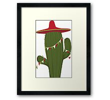 Elegant and Beautiful Cactus Desert Plant Framed Print