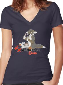 Not at Anthrocon Club Women's Fitted V-Neck T-Shirt