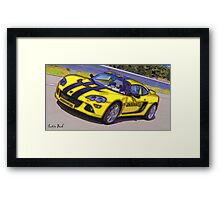 Yello-Car-Justin Beck-picture-2015102 Framed Print