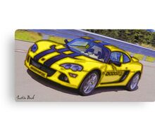 Yello-Car-Justin Beck-picture-2015102 Canvas Print