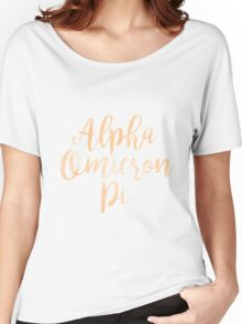 aopi aoii alpha omicron pi sorority sticker greek watercolor Women's Relaxed Fit T-Shirt