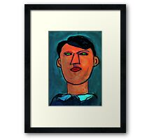 portrait of a young picasso Framed Print
