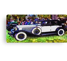 Old-White-Car-Justin Beck-picture-2015104 Canvas Print