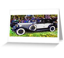 Old-White-Car-Justin Beck-picture-2015104 Greeting Card