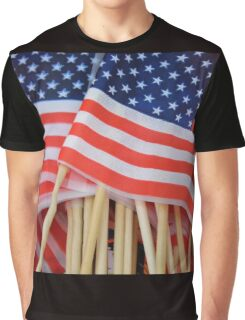 American Flags Graphic T-Shirt