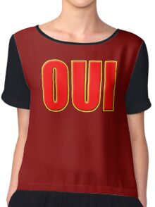 Oui Means Yes - Vote Sticker T-Shirt Chiffon Top