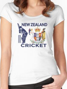New Zealand Cricket Women's Fitted Scoop T-Shirt
