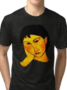 elvira resting at table Tri-blend T-Shirt