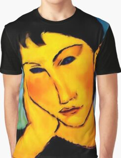 elvira resting at table Graphic T-Shirt