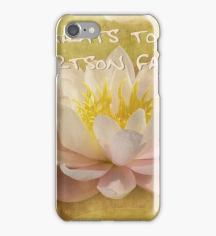 congrats to Jerry and Sherry iPhone Case/Skin