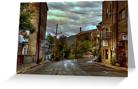 Rainswept Streets of Jerome by K D Graves Photography