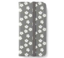 Elderflowers on grey iPhone Wallet/Case/Skin