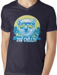 Bear Jus' Chillin' Mens V-Neck T-Shirt
