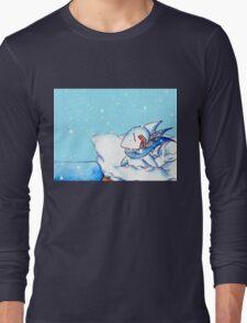 Seaside Snowfall Long Sleeve T-Shirt