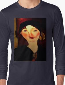 portrait of beatrice hastings Long Sleeve T-Shirt