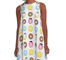 Cats and Doughnuts A-Line Dress