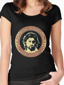 Snake Plissken (doesn't give a shit) Vintage 2 Women's Fitted Scoop T-Shirt