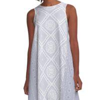 Frosty Winter Pattern A-Line Dress