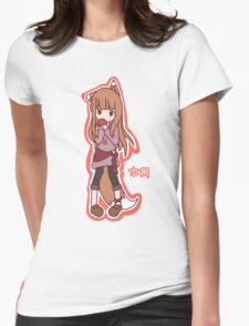 Horo - Spice and Wolf Womens Fitted T-Shirt
