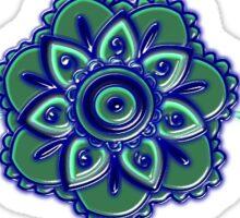 Flower Paisley and swirls version 2  Sticker
