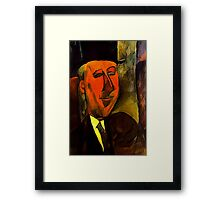 portrait of max jacobs Framed Print