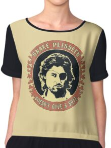 Snake Plissken (doesn't give a shit) Vintage 2 Chiffon Top