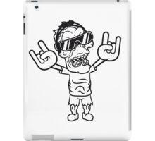 rocker hard rock heavy metal musik party feiern band konzert festival sonnenbrille untoter böse ekelig monster horror halloween zombie  iPad Case/Skin