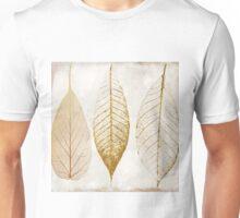 Fallen Gold Autumn Leaves II Unisex T-Shirt